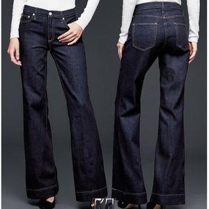 NWOT GAP Authentic Flare Dark Wash Jeans
